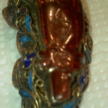 Vintage Amber Pin  - Fine Jewelry