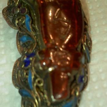Vintage Amber Pin