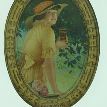 1916 Coca Cola Elaine Tip Tray - Coca-Cola