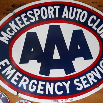 AAA PORCELAIN SIGN - Signs