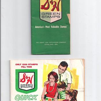 """"""" GREEN STAMP BOOK"""" - Advertising"""