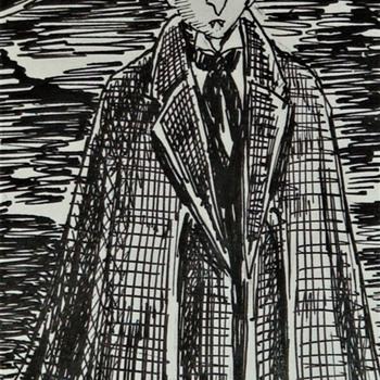 Barnabas Collins Original Pen & Ink By Bret M. Herholz - Fine Art