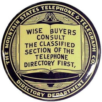 Mountain States Telephone Advertising Mirror
