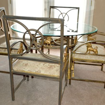 Lion Glass Table & Chairs???