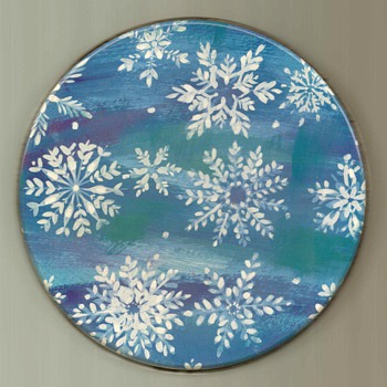 Christmas Tin - Snowflakes - Christmas