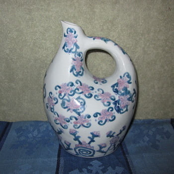 Chinese Handmade Hand painted One of a Kind Pottery  With Markings ???