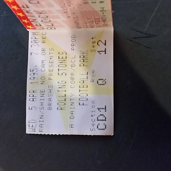 ROLLING STONES Ticket Stub/ 5 April 1995/ South Australia