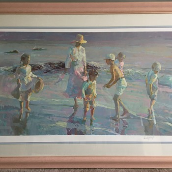 Don Hatfield Beachcombing Signed and Numbered Print - Fine Art