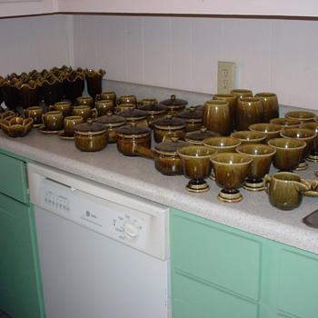 Thai Celadon Stoneware Green Crackle - Glassware