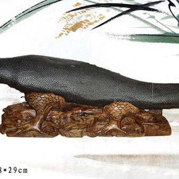 naturally occurring fish stone - Asian