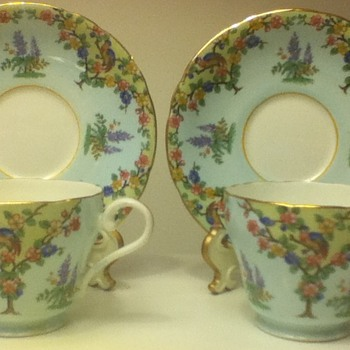 Blue Aynsley Cup and Saucer Sets - China and Dinnerware