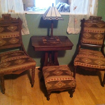 Eastlike parlor set  - Victorian Era