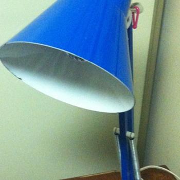 1970 blue ikea table lamp.