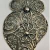 Vintage Sterling Filigree Owl Pendant.