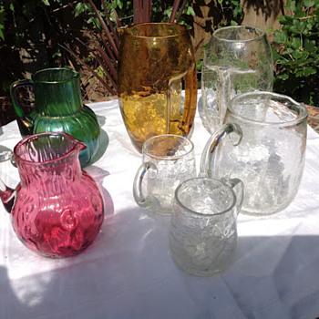Loetz utility wares - anyone for tennis? - Art Glass