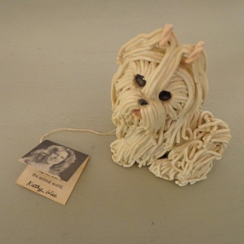 Wise Crackers Hand Molded 1981 A Kathy Original Dog Nice! Vintage - Pottery