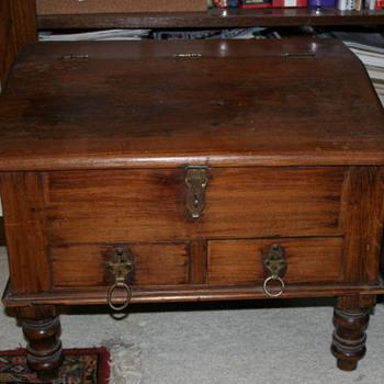 Antique Table Top Captain's Desk