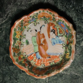 Small Famille Rose Plate - no, VERY small! - Asian