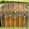 "36"" Victorian Romadka Brothers Senorita Barrel Top Trunk"