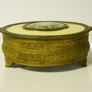 Post 2 of 5-Brass Candy Dish with Clear Glass insert,Maker Unknown,Late 1900  - Kitchen