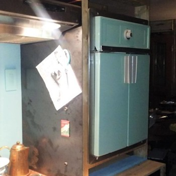 Frigidaire french door oven in Sherwood green. - Kitchen