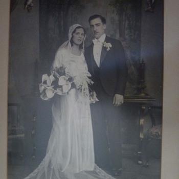 Hand Tinted Large Wedding Photo - Photographs
