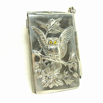 Silver Note Case with Pencil - Silver