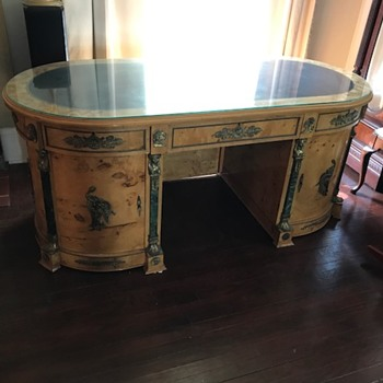 Desk manufacturer ?  just bought at auction not sure what and where from