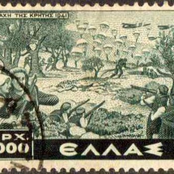 "1948 - Greece ""Battle of Crete"" Postage Stamp - Stamps"