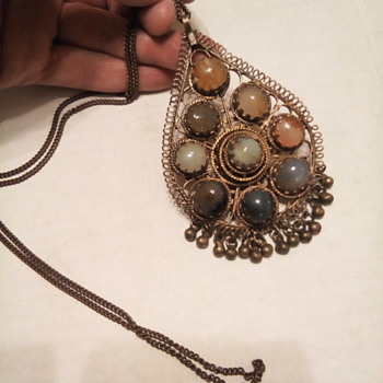 Large and chunky retro vintage necklace - Fine Jewelry