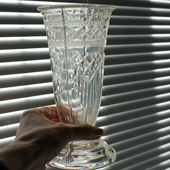Simple 1930's Art Deco Glass Vase - Art Deco