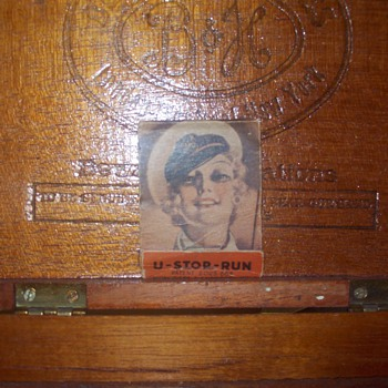 Cigar box, striker matches - Tobacciana