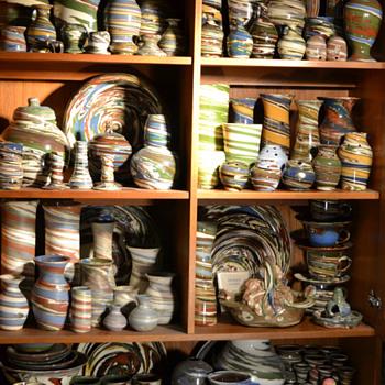 Cabinet full of Desert Sands Pottery - Pottery