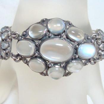 Fabulous Antique Moonstone Bracelet - Fine Jewelry