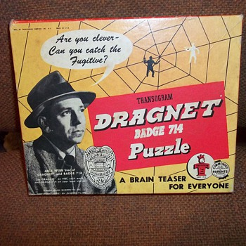 1955 DRAGNET PUZZLE GAME - Games