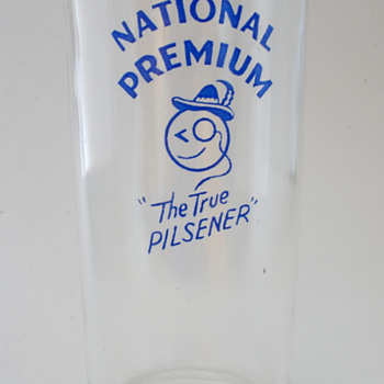 "National Brewing Co. ""True Pilsener"" Glass - Breweriana"