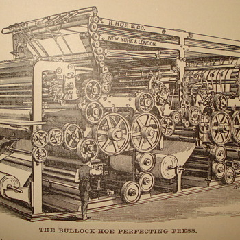 """R. HOE & COMPANY NEW YORK CITY """"PRINTING PRESS"""" NEED YOUR HELP DECIDING WHAT TO DO ON SECOND PICTURE - Books"""