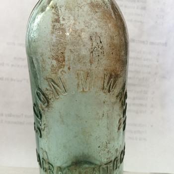 Gold Rush Era Soda Bottle
