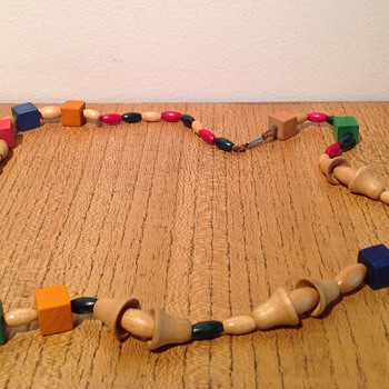 WOODEN NECKLACE MYSTERY #1 - Costume Jewelry