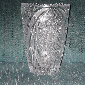 Cut and Pressed Vase - Glassware