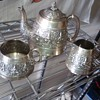 T.R.T&S Madras Indian silver tea set T.R. Tawker & sons