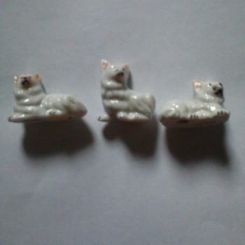three little made in Japan dogs  - Animals