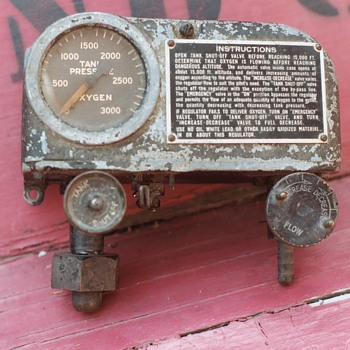 Old Oxygen Gauge for Airplane?? - Military and Wartime