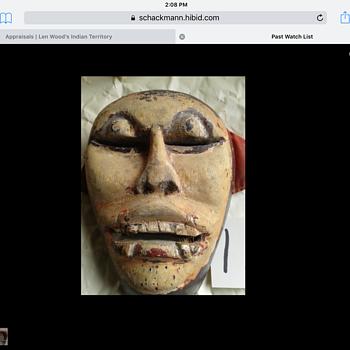 OldWooden Mask - Fine Art