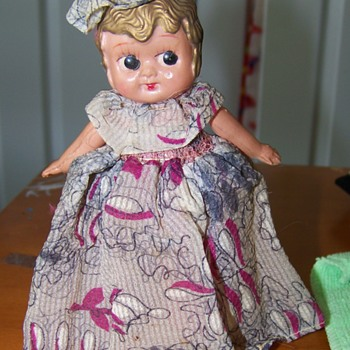 Old Plastic Betty Boop Looking Doll