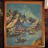 Mid Century Thai Painting - landscape with heavy impasto - Kitilerk Muhummad