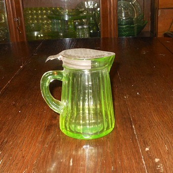 Hocking Glass Syrup Pitcher Depression Era