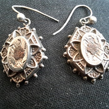 Victorian Sterling Silver Earrings  - Fine Jewelry
