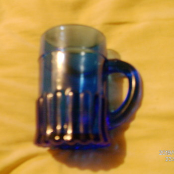U.S. Glass Co. Souvenir Cobalt Mug. - Glassware