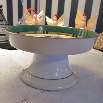 Vintage Enameled Porcelain Footed Bowl/Dish from AmberRose! : ) - China and Dinnerware